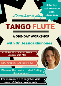 Learn to play tango flute in London