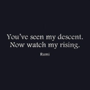 You've Seen my descent, Rumi