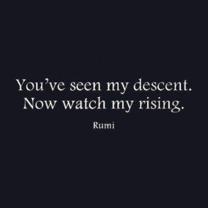 You've Seen my descent, Rumi